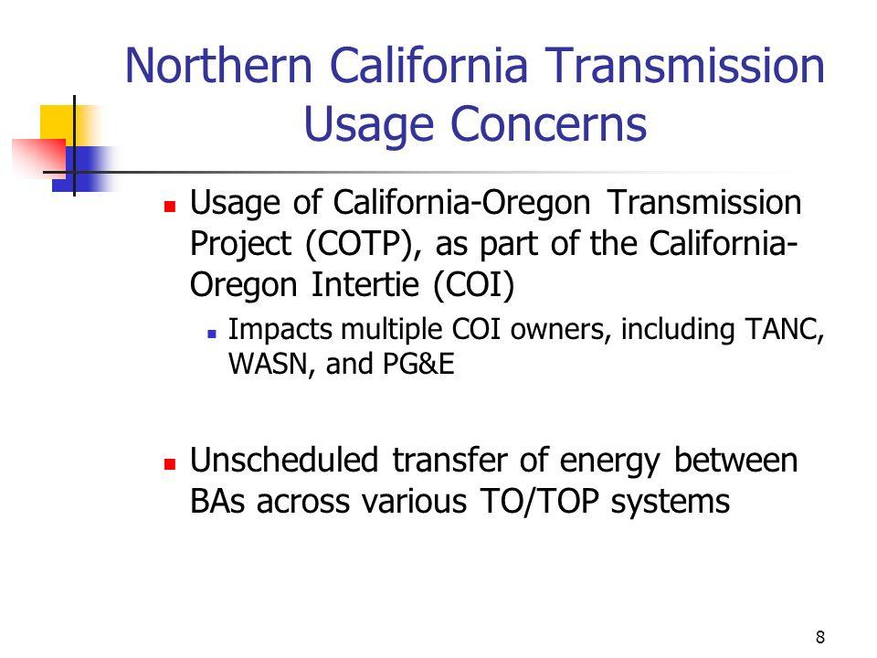 Northern California Transmission Usage Concerns