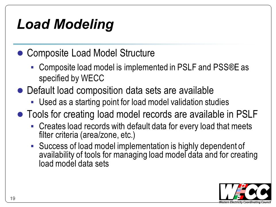 Load Modeling Composite Load Model Structure