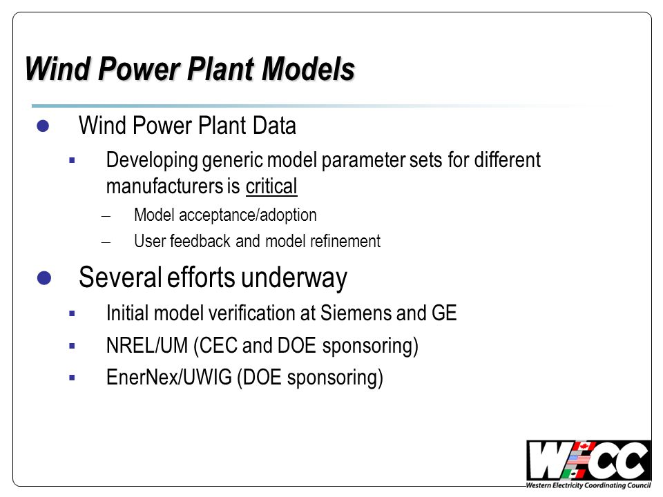 Wind Power Plant Models