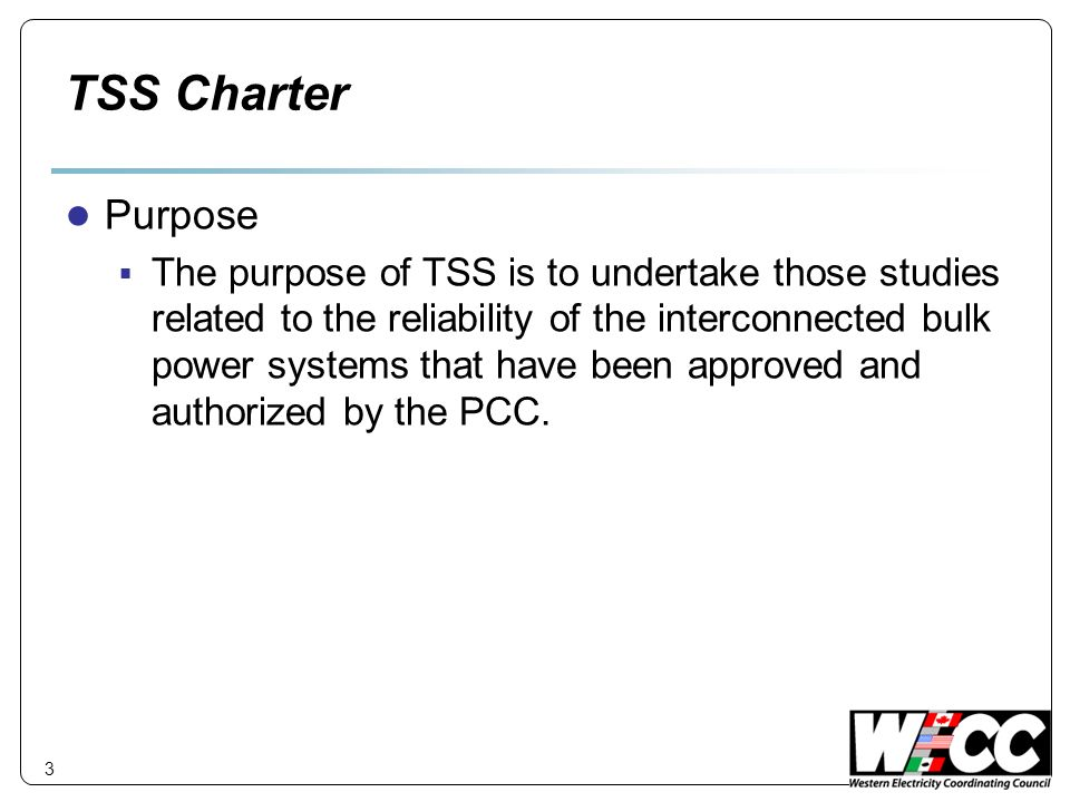 TSS Charter Purpose.