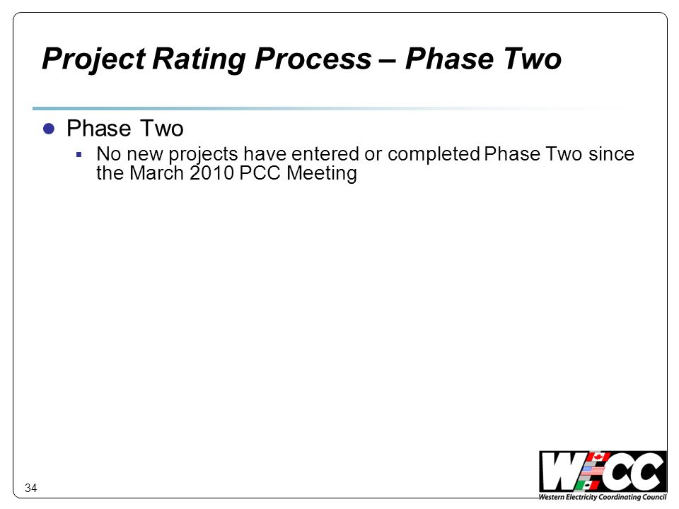 Project Rating Process – Phase Two