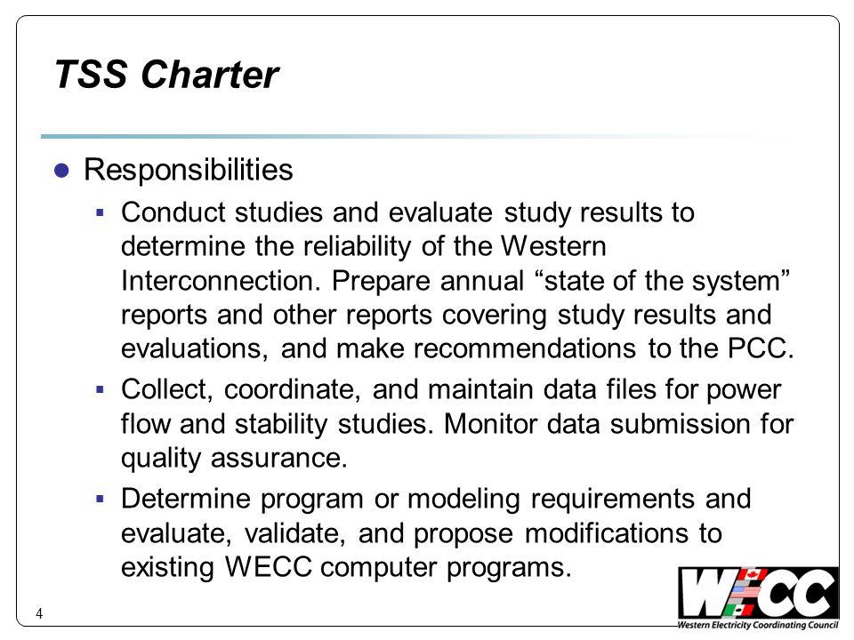 TSS Charter Responsibilities