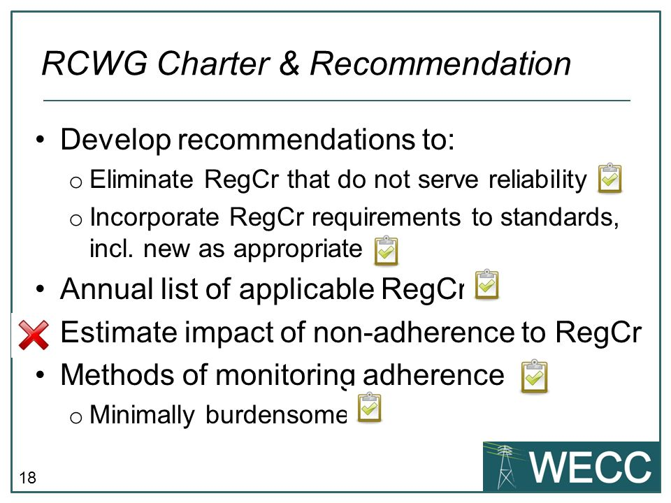 RCWG Charter & Recommendation