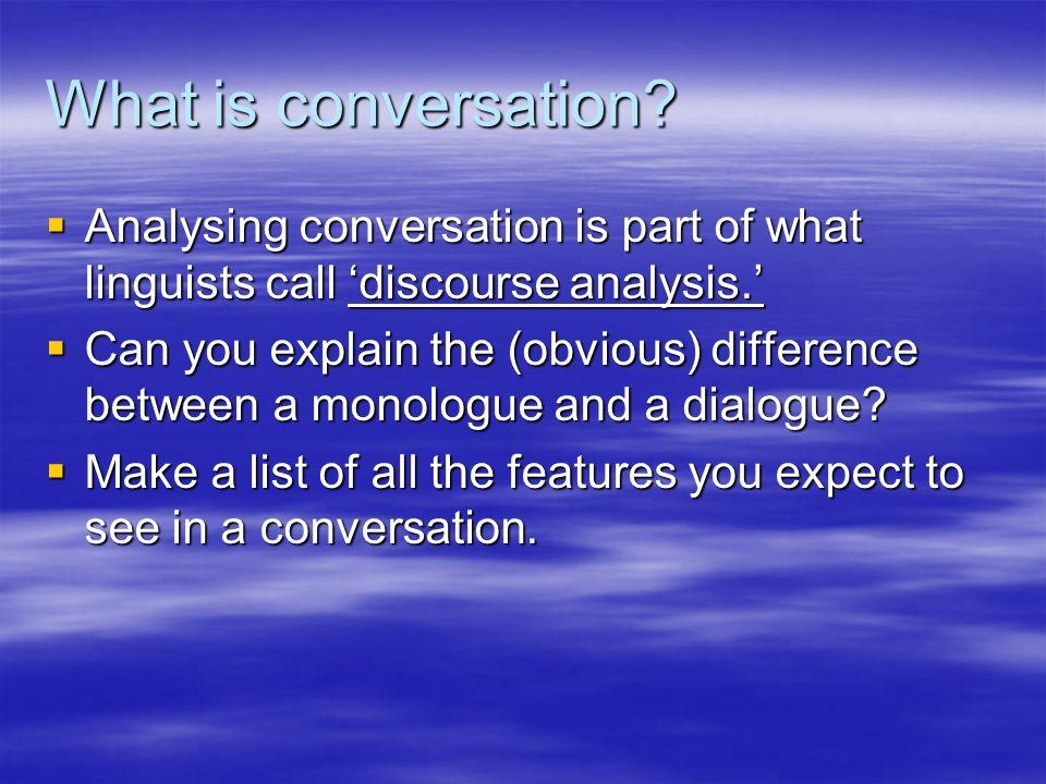 conversation analysis