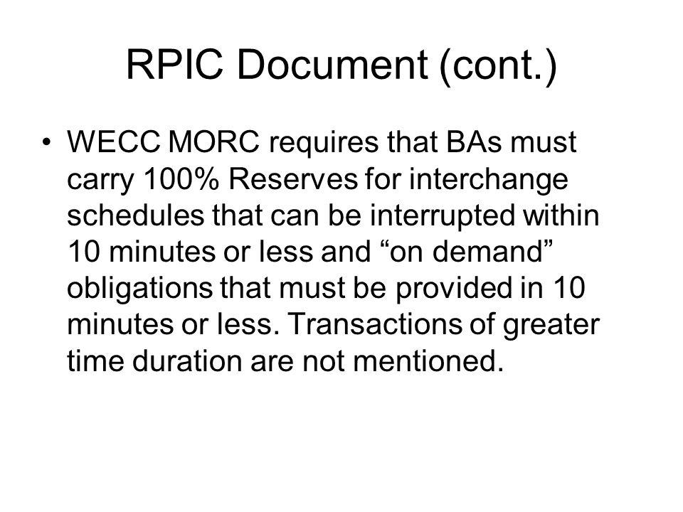 RPIC Document (cont.)