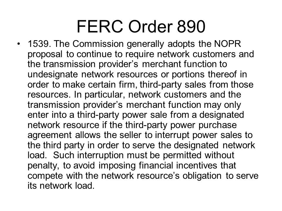 FERC Order 890