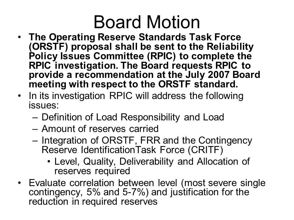 Board Motion