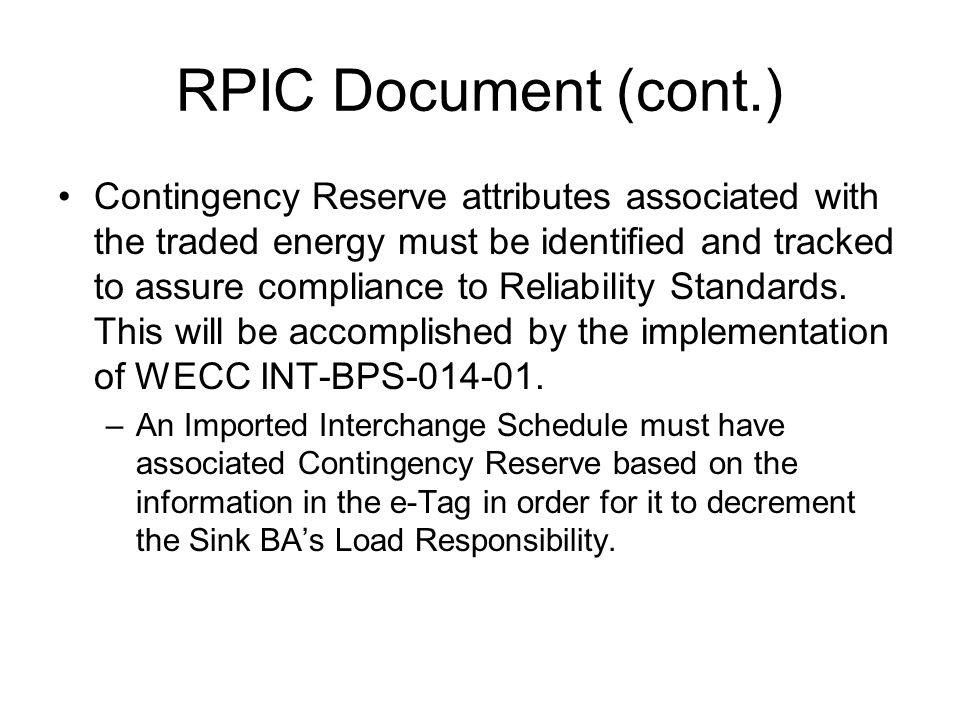 RPIC Document (cont.)