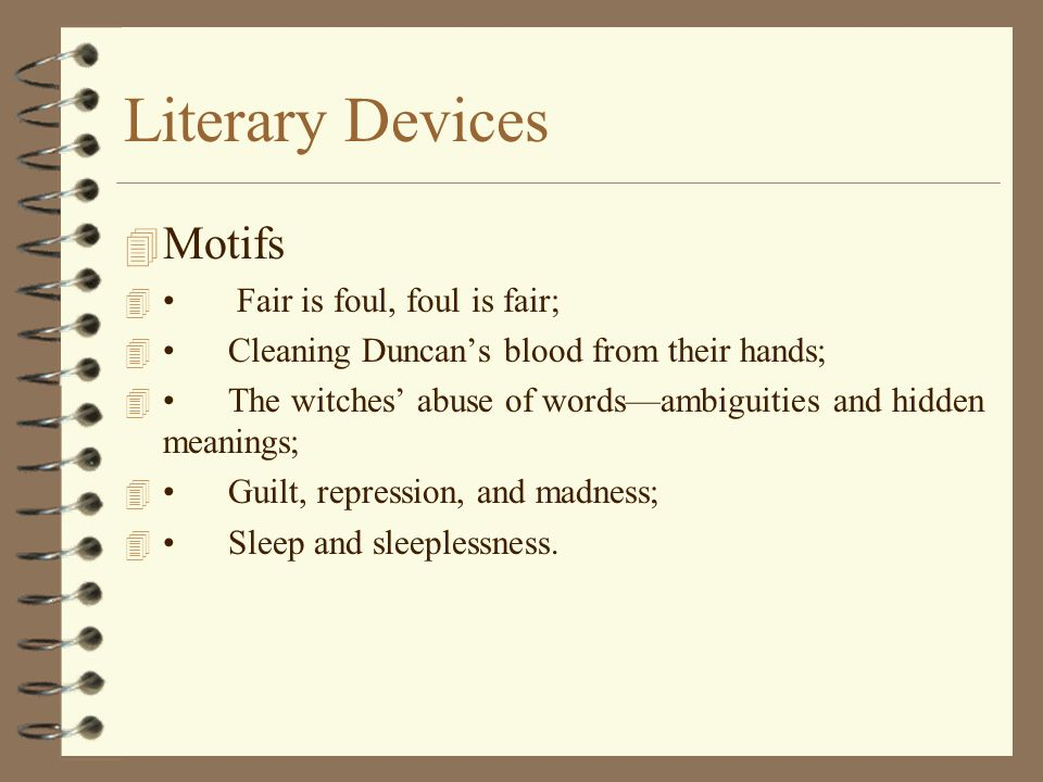 motifs and characterization in macbeth Get free homework help on william shakespeare's macbeth: play summary, scene summary and analysis and original text, quotes, essays, character analysis , and filmography courtesy of cliffsnotes in macbeth, william shakespeare's tragedy about power, ambition, deceit, and murder, the three witches foretell macbeth's.