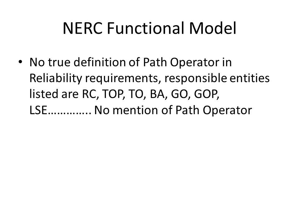 NERC Functional Model