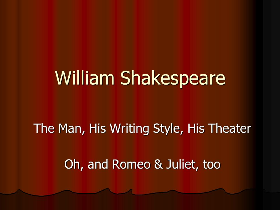 literary analysis of the writing style of william shakespeare