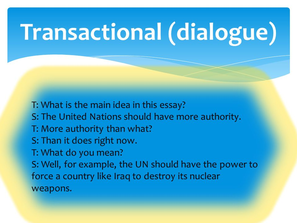 dialogue used in essay Critical essays rhetorical devices blunt description, lyricism, dialogue passages illustrating these rhetorical devices are listed in the following.