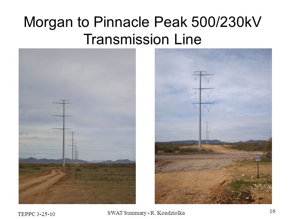 Morgan to Pinnacle Peak 500/230kV Transmission Line