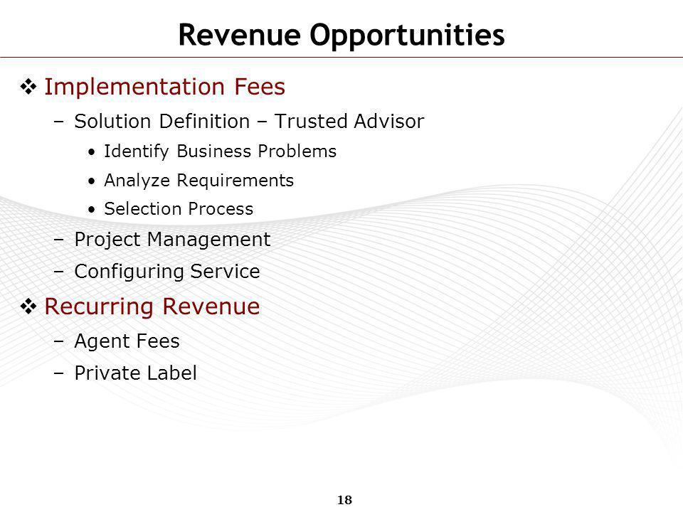 Revenue Opportunities