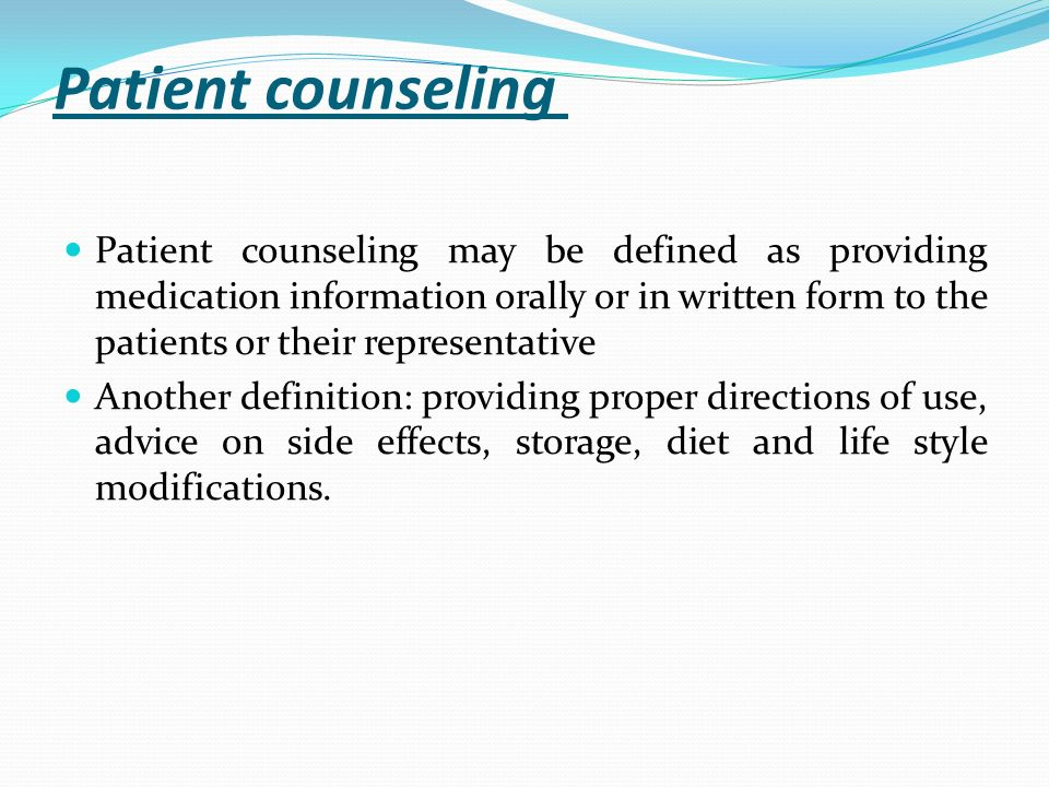 Counseling Patients About Constipation