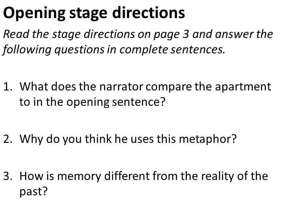 how to write stage directions in a play