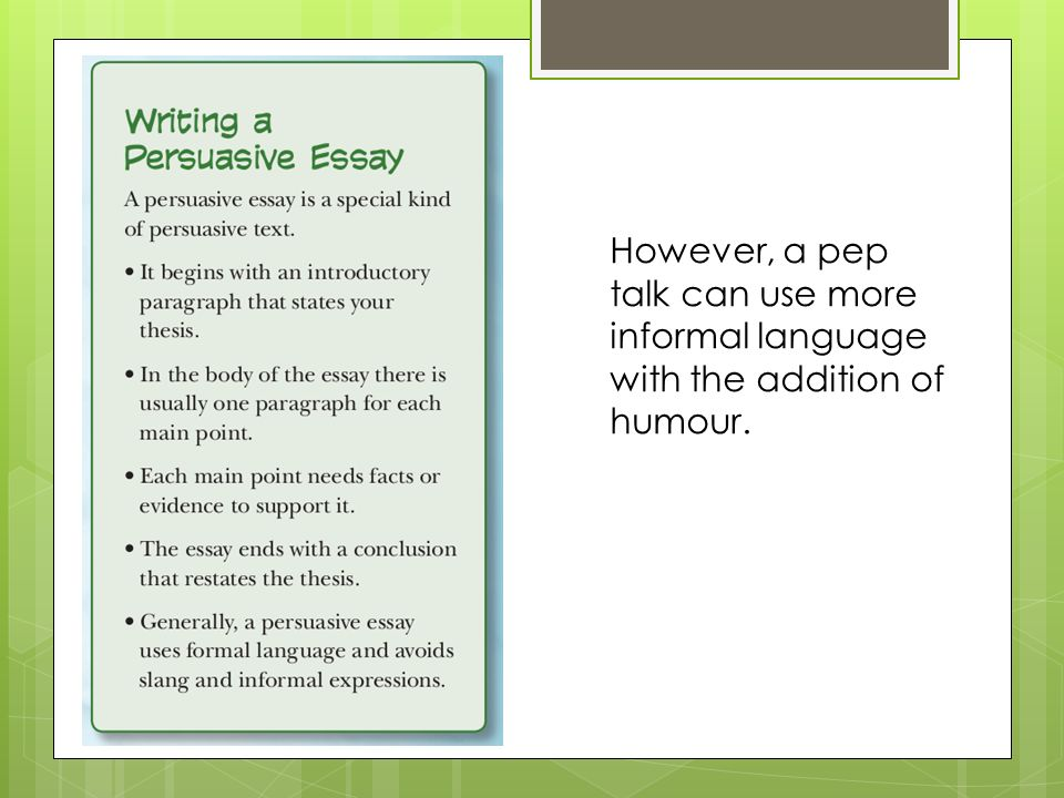 introduction paragraph in a persuasive essay Outline the rest of the essay, paragraph by paragraph in many cases, the introduction paragraph will read almost like an outline for the rest of the paper – it should have an introduction, a declared thesis statement, and its supporting evidence, and a conclusion tying it all together step 3 write one or two topic sentence.