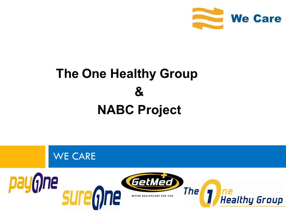 We Care The One Healthy Group & NABC Project WE CARE