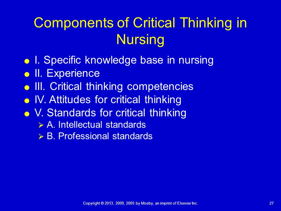 the five critical thinking competencies