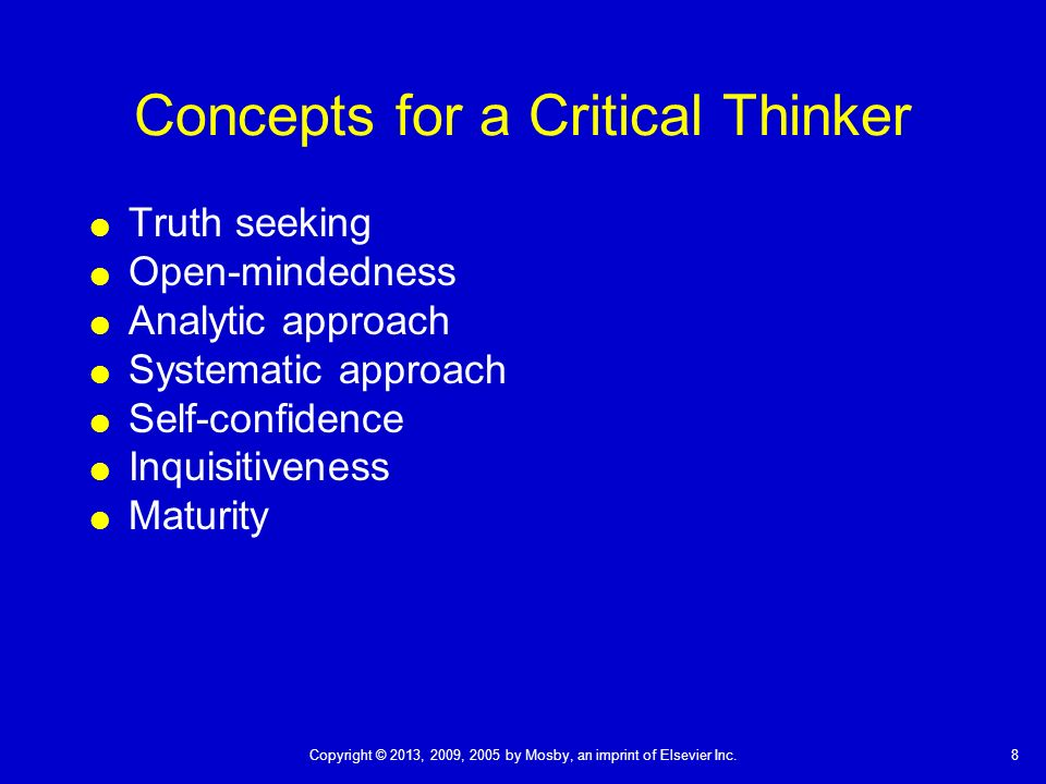 cognitive processes critical thinking April 2017 environment and safety process safety incidents, cognitive biases and critical thinking process hazard analysis (pha) is performed to identify possible.
