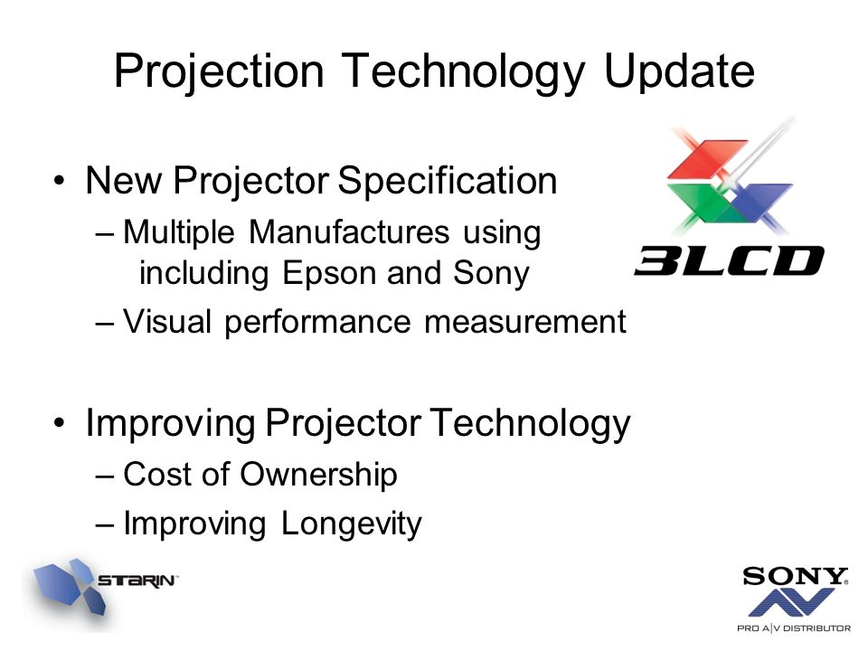 Projection Technology Update