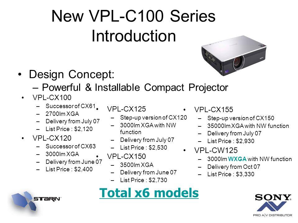 New VPL-C100 Series Introduction