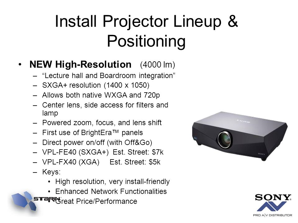 Install Projector Lineup & Positioning
