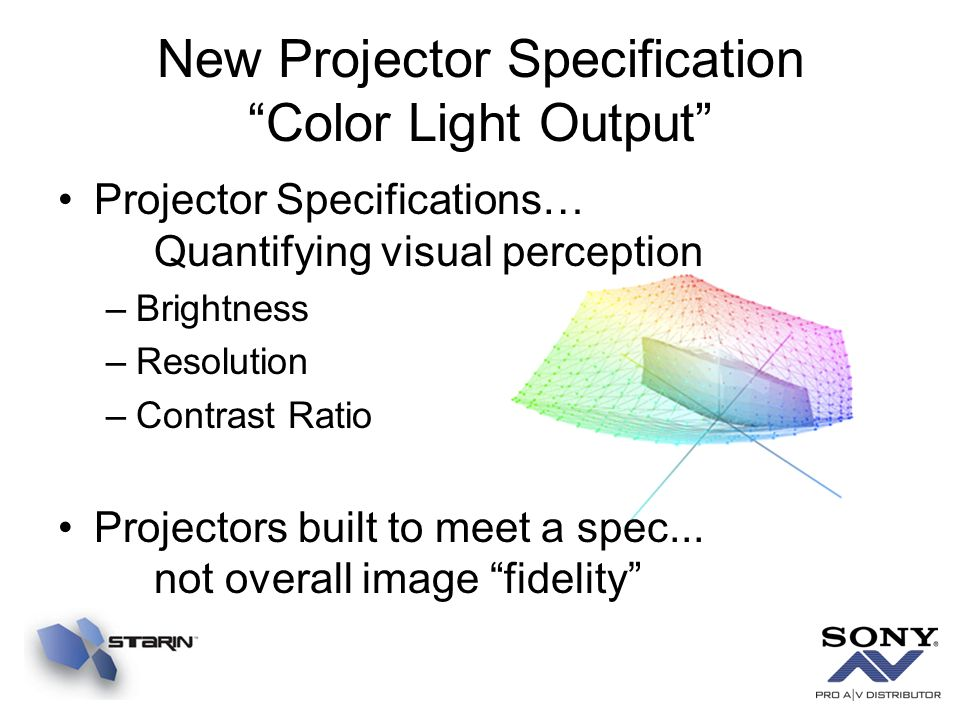 New Projector Specification Color Light Output