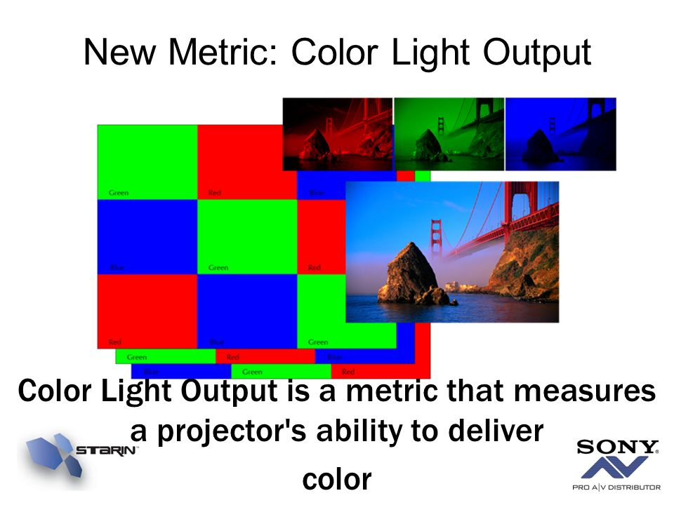 New Metric: Color Light Output