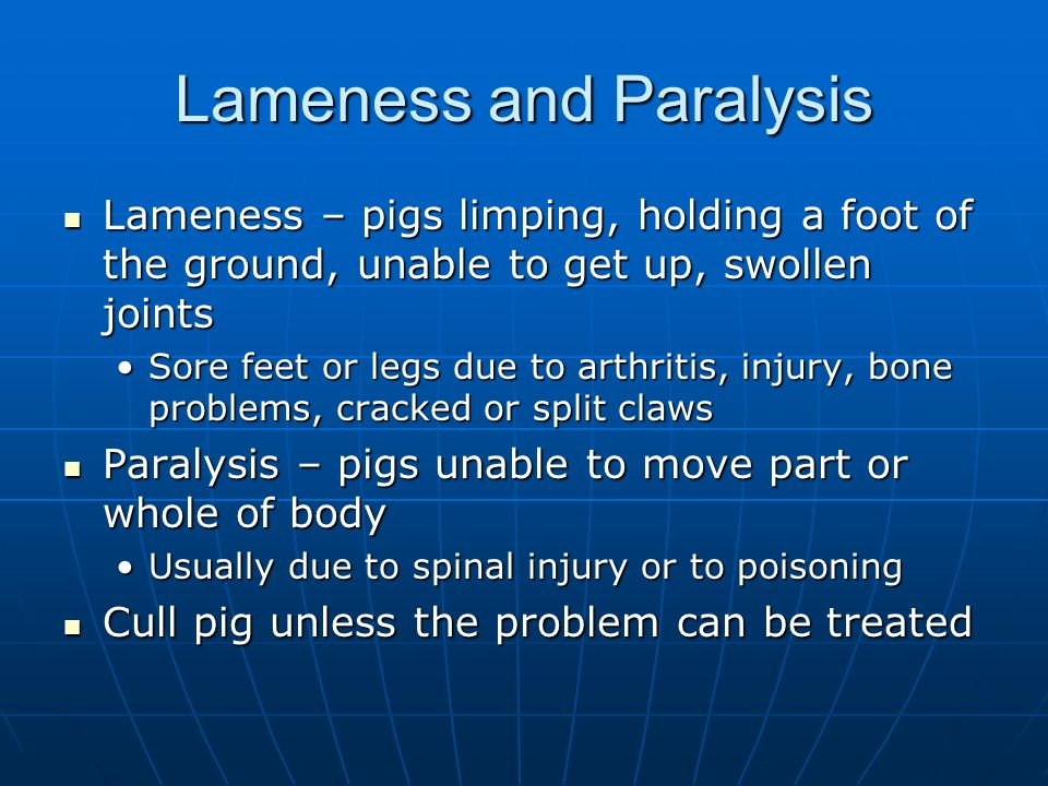 Lameness and Paralysis
