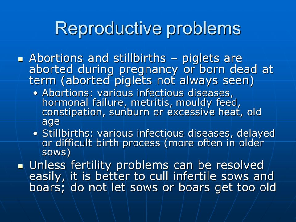Reproductive problems