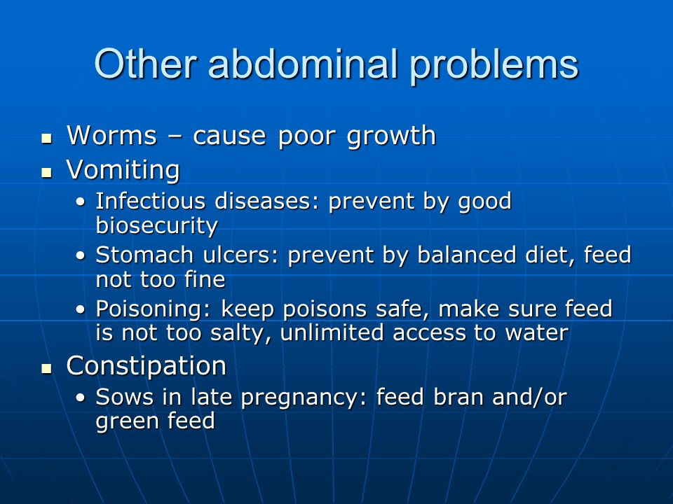 Other abdominal problems
