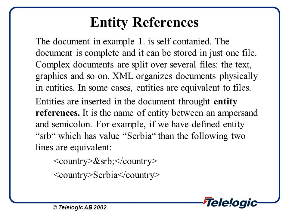 Entity References