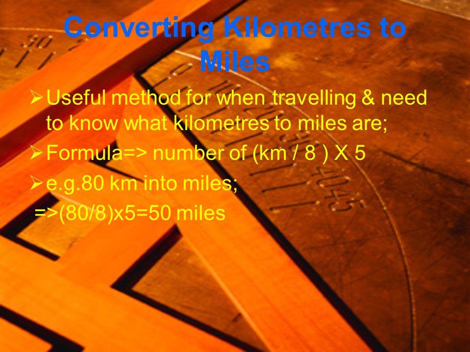 Converting Kilometres to Miles