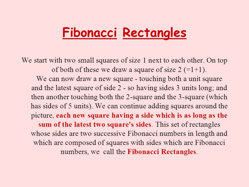 Fibonacci Rectangles
