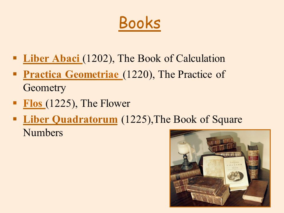 Books Liber Abaci (1202), The Book of Calculation