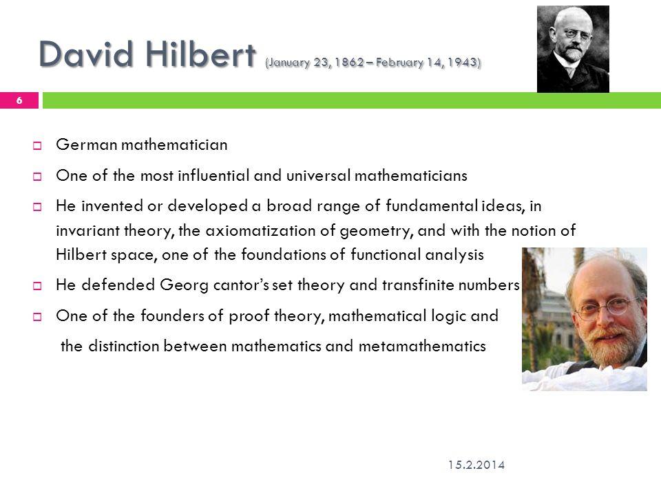 david hilbert axiomatization of arithmetic