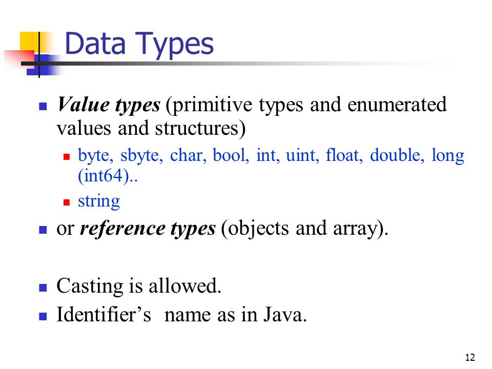 Data Types and Array in Java