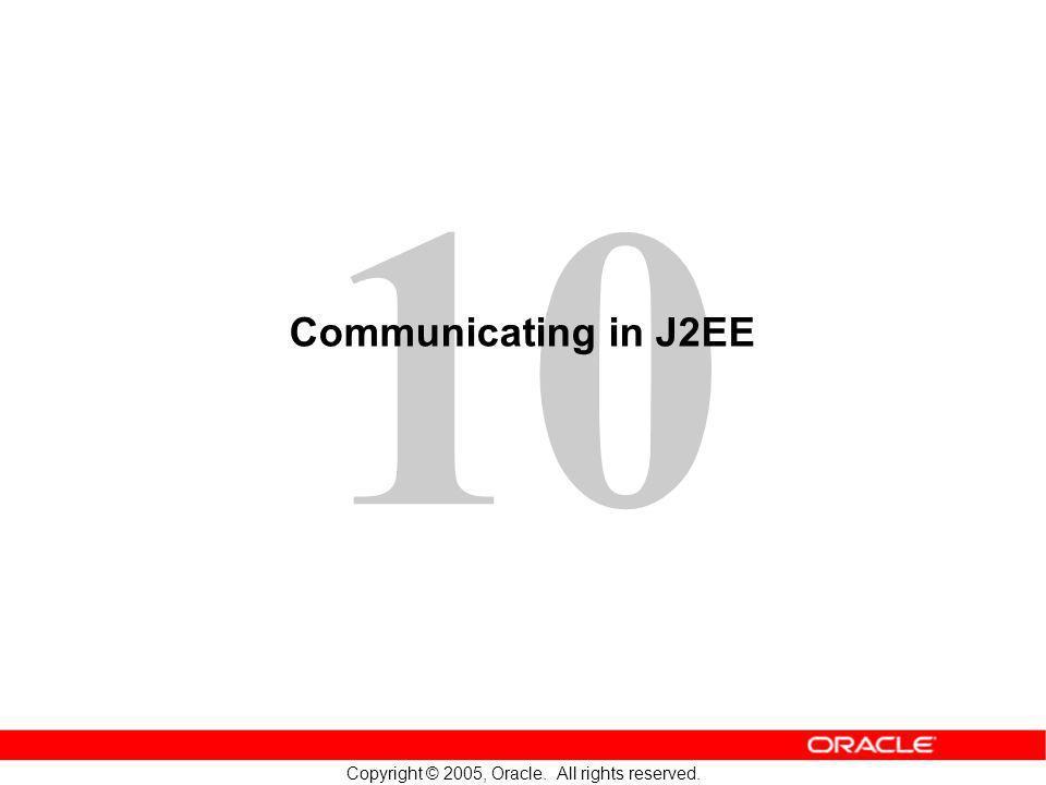 Communicating in J2EE
