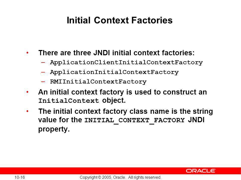 Initial Context Factories