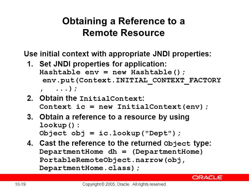 Obtaining a Reference to a Remote Resource