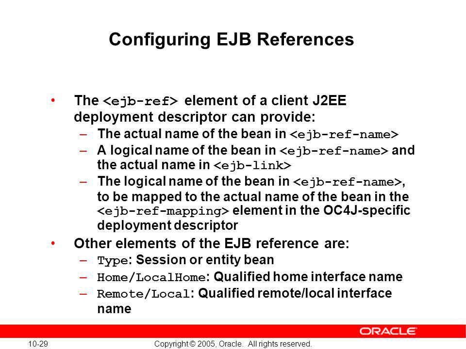 Configuring EJB References