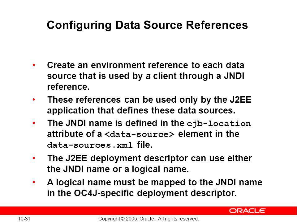 Configuring Data Source References