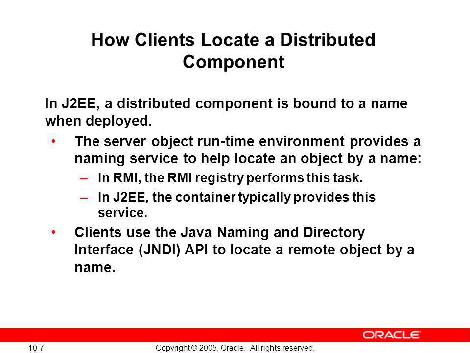How Clients Locate a Distributed Component