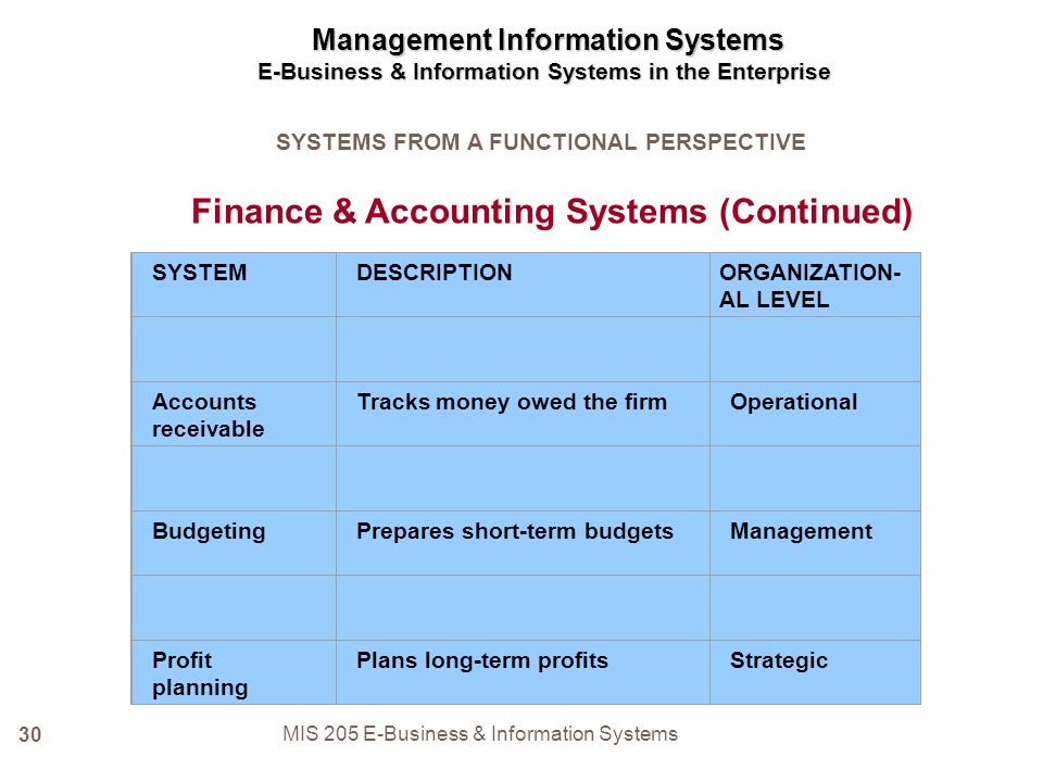 mis and management accounting pdf