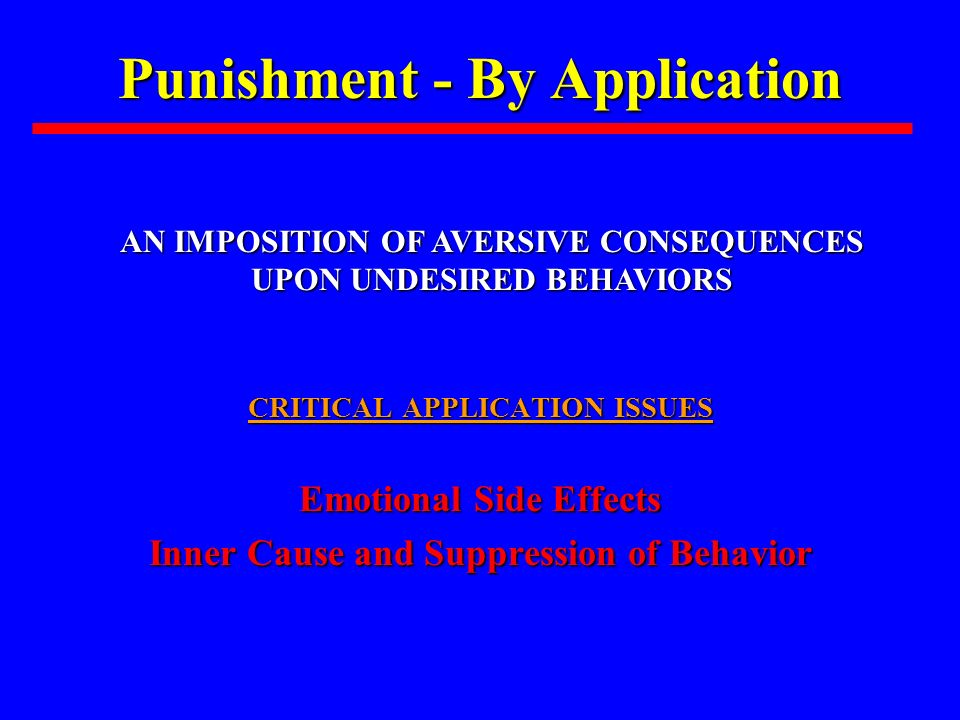 Punishment - By Application