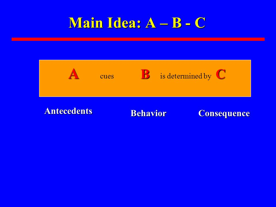 A cues B is determined by C