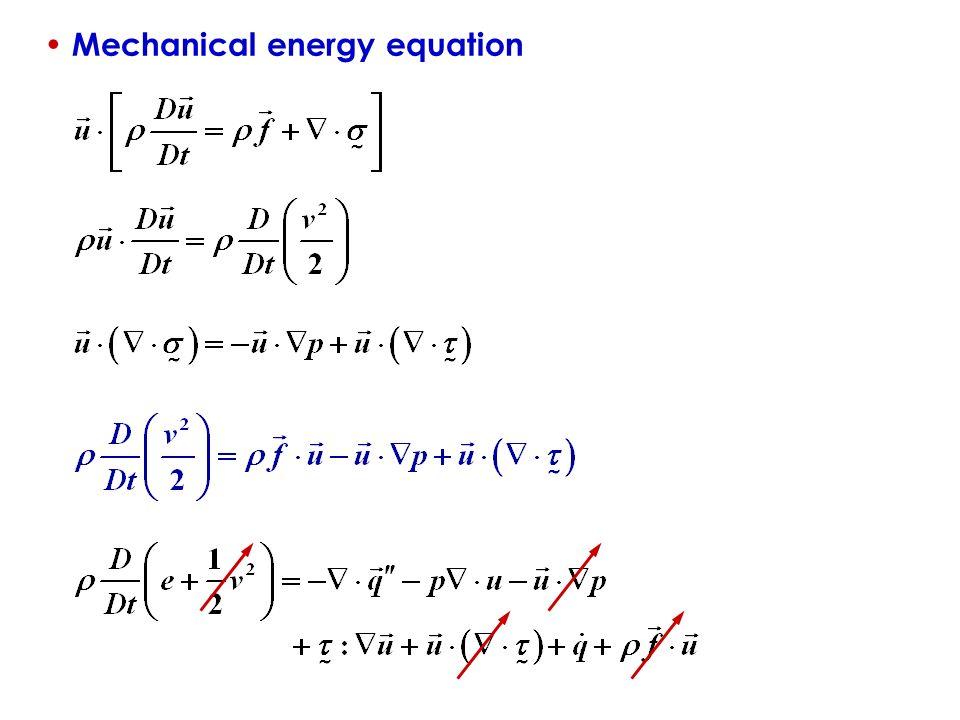 MACROSCOPIC THERMAL SC... Mechanical Energy Formula