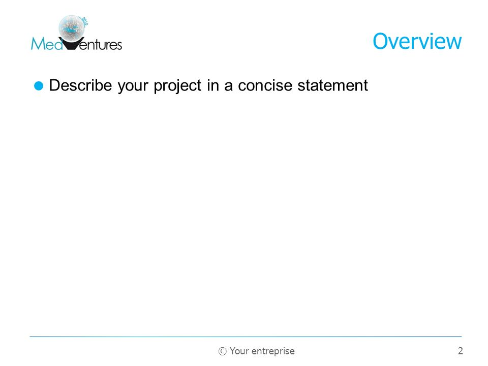 Overview Describe your project in a concise statement