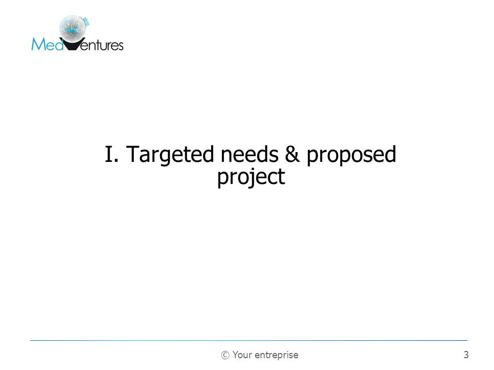 I. Targeted needs & proposed project